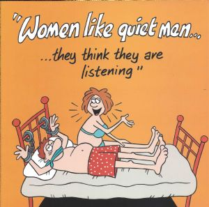 Women Like Quiet Men Funny Card TW529